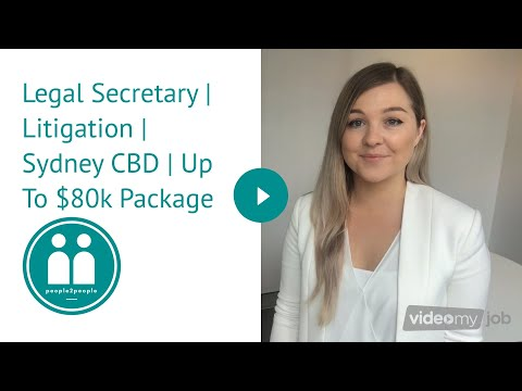 Legal Secretary | Litigation | Sydney CBD | Up To $80k Package