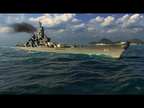 World of Warships - Iowa Tier 9 United States Battleship Overview