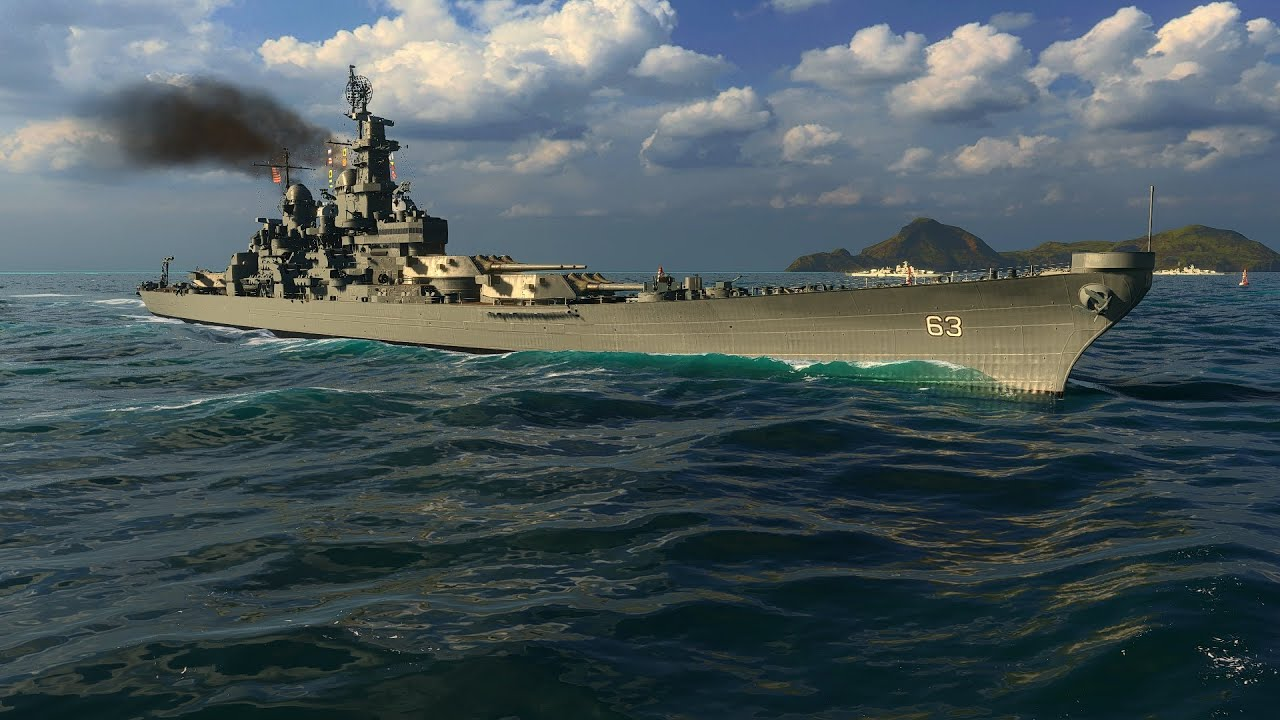 World of Warships - Iowa Tier 9 United States Battleship Overview - YouTube
