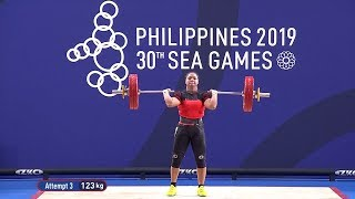 Kristel Macrohon Bagged The Gold In The Women's 71kg Category Of Weightlifting | 2019 Sea Games