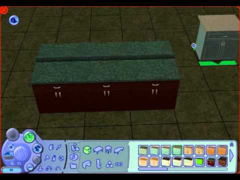 How to build an island counter for The Sims 2