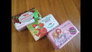 Dry soap cutting/ strawberry dry cutting soap set/asmr
