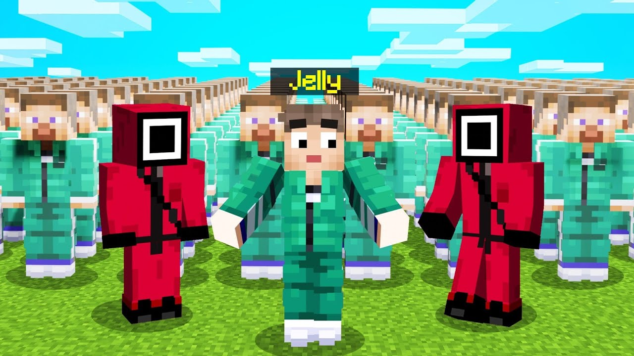 Download Jelly plays Squid Game in Minecraft!