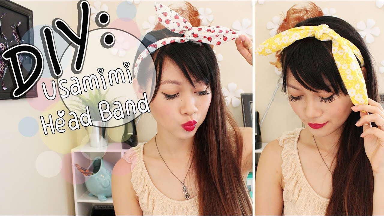 DIY Usamimi Rabbit Ear Head Band YouTube