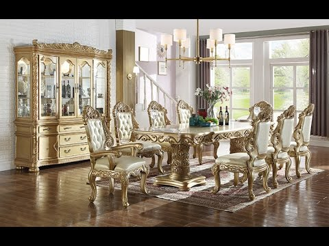 Bennito dining room collection by meridian furniture youtube for Dining room tables you tube