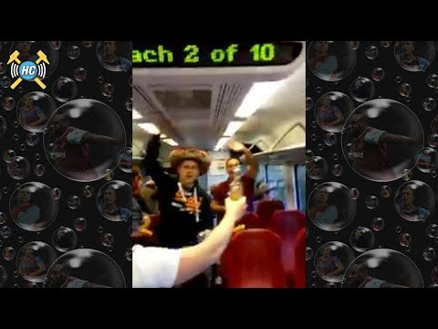 Chicharito Song   West Ham Fans Sing Javier Hernandez On The Train