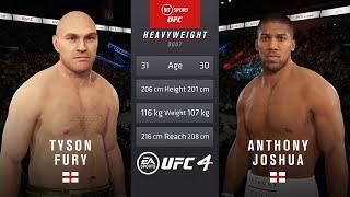 Tyson fury v anthony joshua ufc 4 simulation... insane fight! 😂