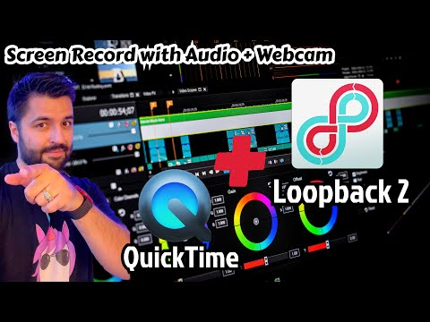 How To Record You Screen With Desktop Audio on Mac + Webcam - QuickTime Player Screen Record