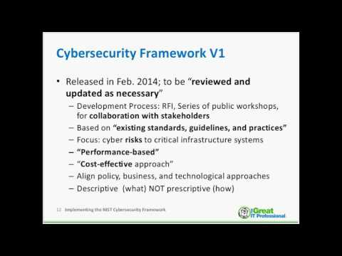 Implementing the NIST Cybersecurity Framework