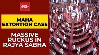 Anil Deshmukh Hafta Gate: Massive Ruckus In Rajya Sabha As BJP Leaders Demand Uddhav's Resignation