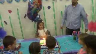 selenia s 6th bday party singing happy birthday song 2 25 2015