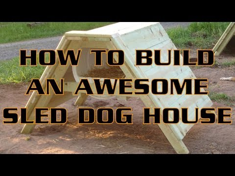 How To Build An Awesome Sled Dog House | A-Frame