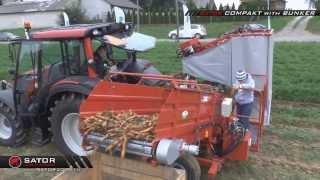 Sator Compact Bunker - Kombajn do marchwi, z bunkrem / Carrot Harvester with Bunker