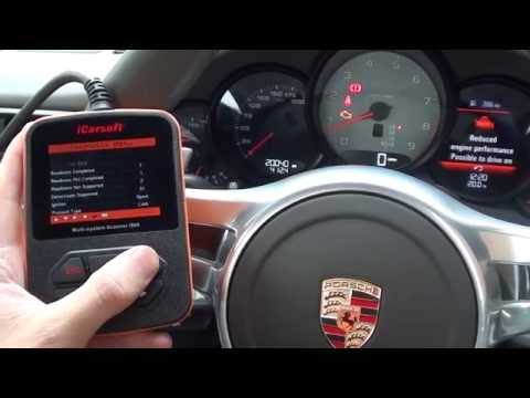 iCarsoft i960 Porsche Check Engine Light Reset Reduced Engine