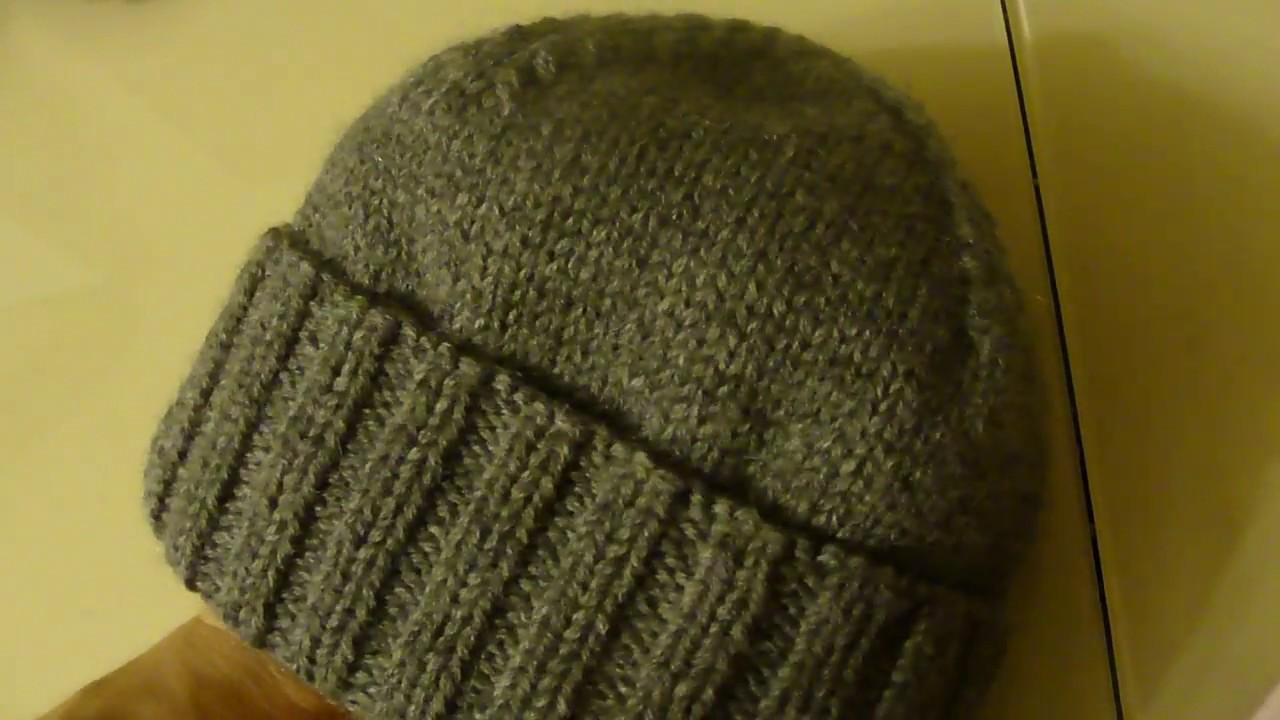 мужская шапка связанная спицами модные модели головных уборов и