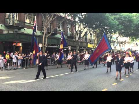 Carindale Salvation Army Band on the Anzac Day March 2016 Brisbane