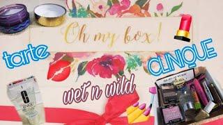 OH MY BOX SUSCRIPCION DE MAQUILLAJE/ CLINIQUE, TARTE, WET N WILD Y MUCHO MAS