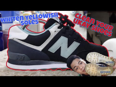 FROM UKAY TO OKAY!! UKAY SHOES CLEANING | WHITEN YOUR YELLOWED SOLES