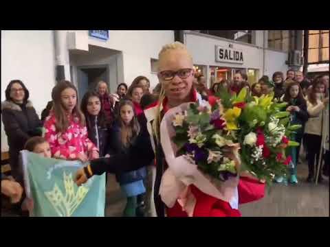 Lugo se rinde a la atleta Adiaratou Iglesias