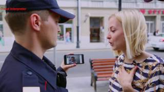 Приминение сервиса видеоудаленного перевода Cloud Interpreter правоохранительными органами(Скачать и протестировать приложение можно бесплатно: iOs: http://appstore.com/cloudinterpreter Android: http://goo.gl/pJyZsR Открываете..., 2016-06-21T16:07:54.000Z)