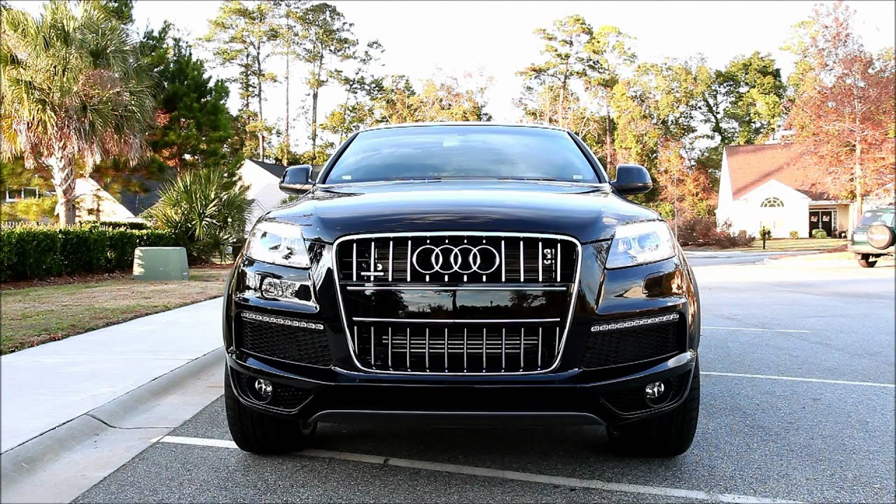 2011 audi q7 s line adaptive air suspension demo youtube. Black Bedroom Furniture Sets. Home Design Ideas
