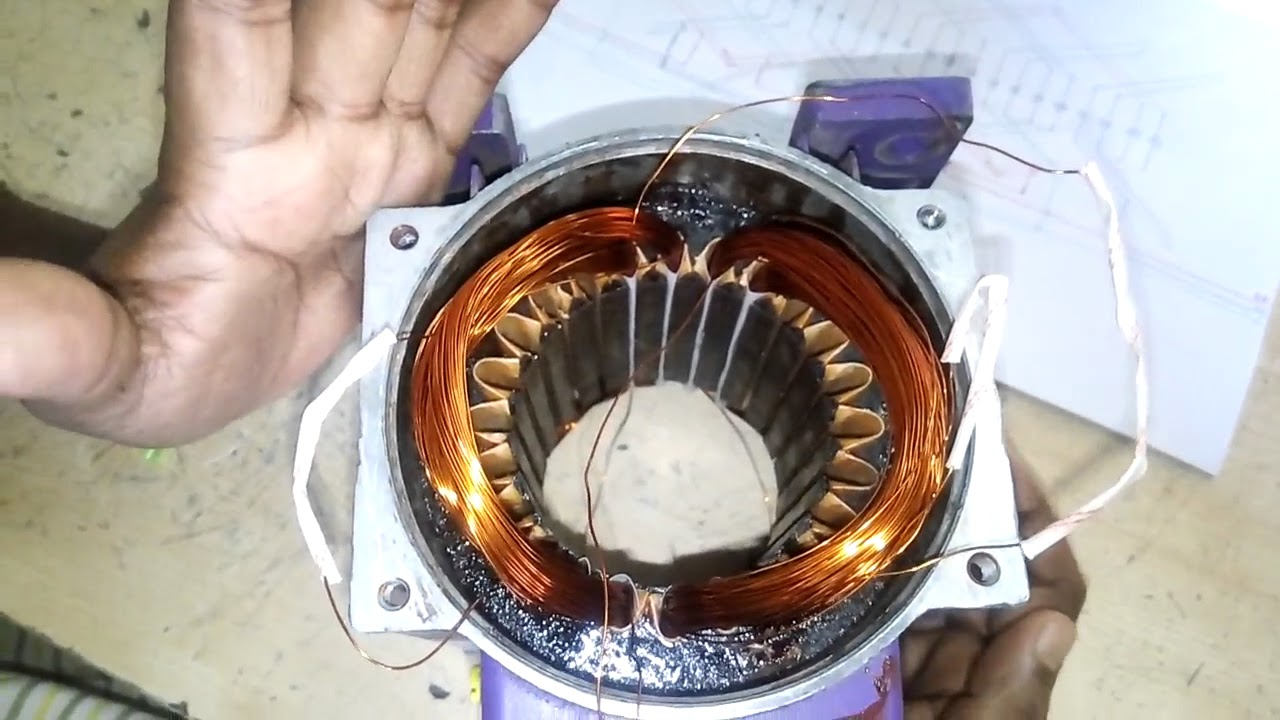 how to make 24 slot three phase motor 2 pole basket rewindinghow can i make motor rewinding