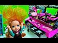 Elsa and Anna toddlers at the hair salon