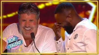 GOLDEN BUZZER | Is This Simon Cowell's TOP Comedian On Britain's Got Talent? | Top Talent