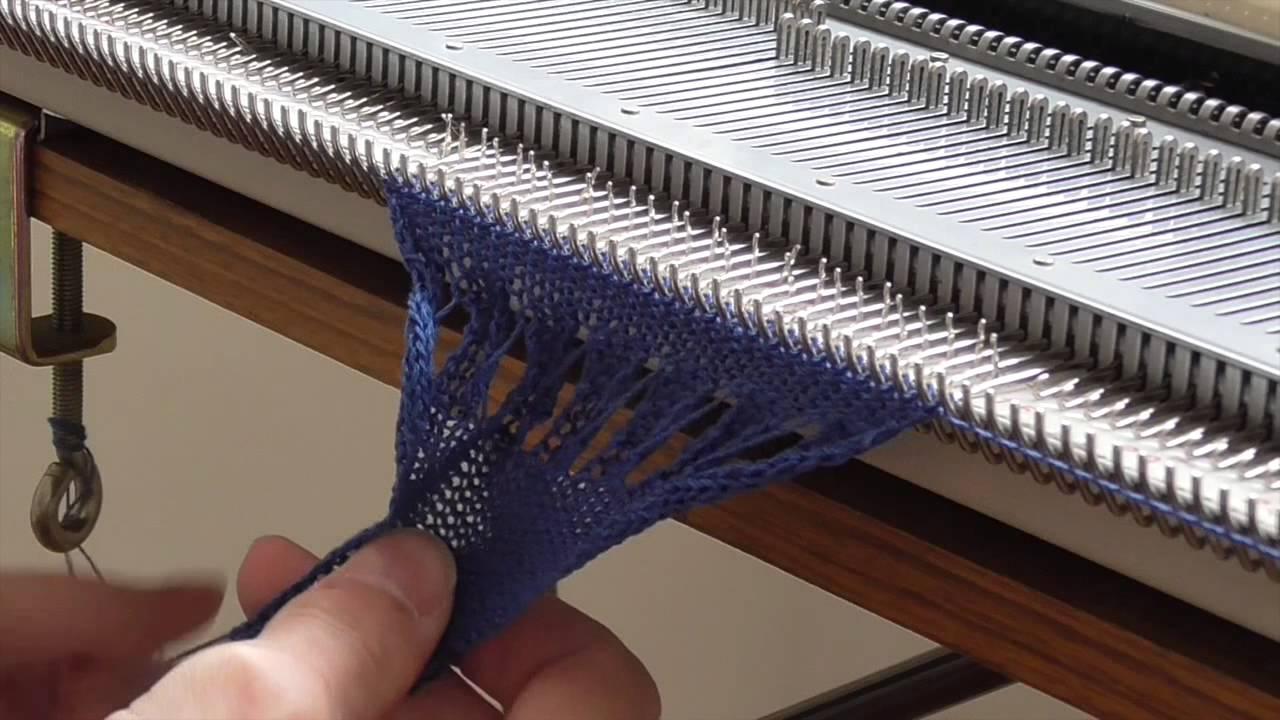 Knitting Paradise Machine Knitting : Machine knitting partial and increases youtube