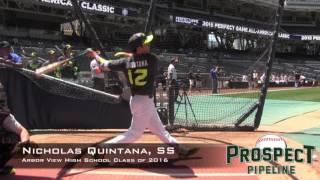 Nicholas Quintana Prospect Video, SS, Arbor View High School Class of 2016