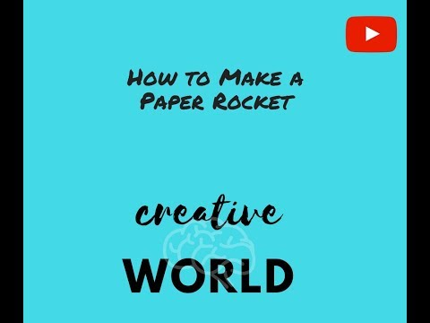 How to make a paper rocket fly long distances