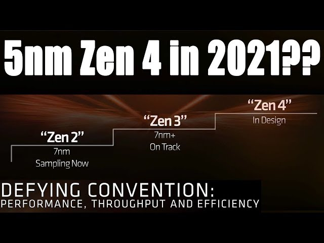 Amd Zen 4 Ryzen 5nm Cpu S Coming In 2021 Youtube