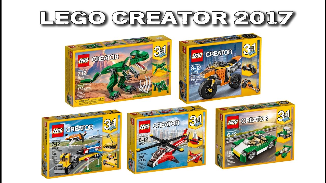 new lego creator 2017 sets first look youtube. Black Bedroom Furniture Sets. Home Design Ideas