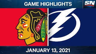 NHL Game Highlights   Blackhawks vs. Lightning – Jan. 13, 2020