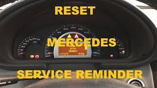 Reset Mercedes Service Reminder in 1 MINUTE! (C-class W203 and others)