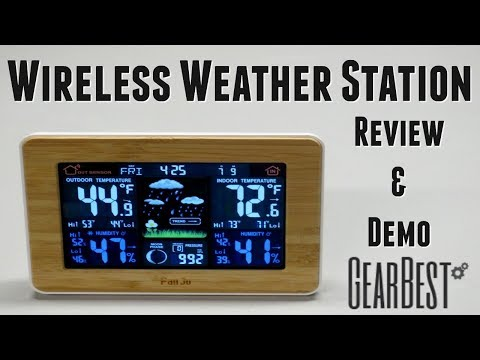 Gearbest Wireless Weather Station Review & Demo!