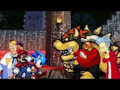 HEROES vs VILLIANS 4v4 TAG MUGEN BATTLE!!!