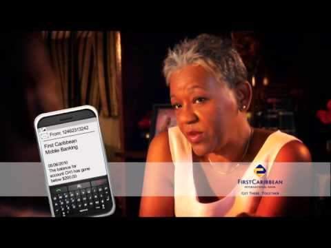 Old Couple Mobile Banking- CIBC First Caribbean International Bank Ad
