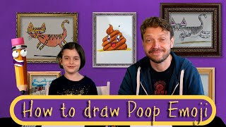 How To Draw A Poop Emoji - Art For Kids