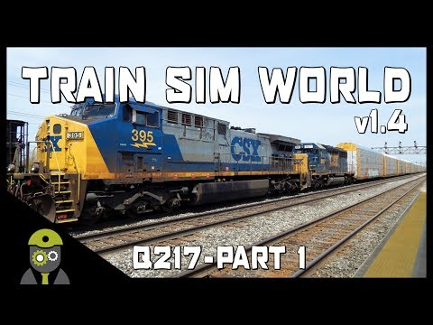 Train Sim World: CSX Heavy Haul - Q217 Service - AC4400CW YN2 - Autorack - Part 1/4
