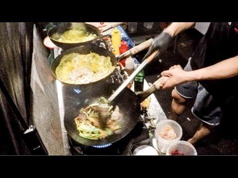 Vietnam Street Food. Many Woks Working in Warsaw, Poland