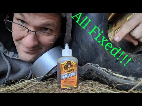 How to Fix Muck boot using - Gorilla Glue & Duct Tape -2018