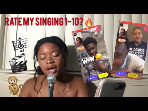Asking Random Strangers To Rate My Singing 🎤🎼1-10🔥😍// MONKEY APP