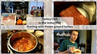 Turkey Chili In The Instant Pot (starting With Frozen Ground Turkey)