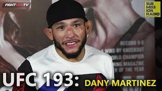 UFC 193: Danny Martinez happy to step into enemy territory at Croke Park