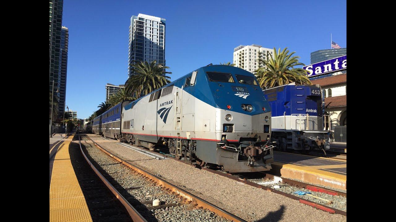 Amtrak California Hd 60fps Riding Pacific Surfliner Train