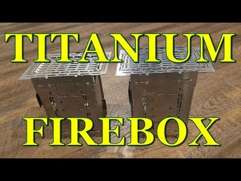 """TITANIUM 5"""" Firebox Stove - First Look With Weights And Compare To Steel Version"""