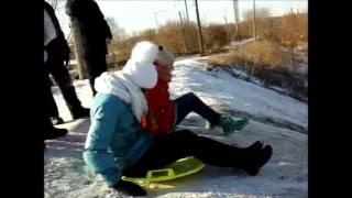Зима 2016-2017 😂| Горка😂 | Веселые выходные😂