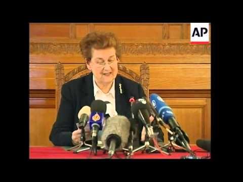 Court presser and reax to judgement on Serbia