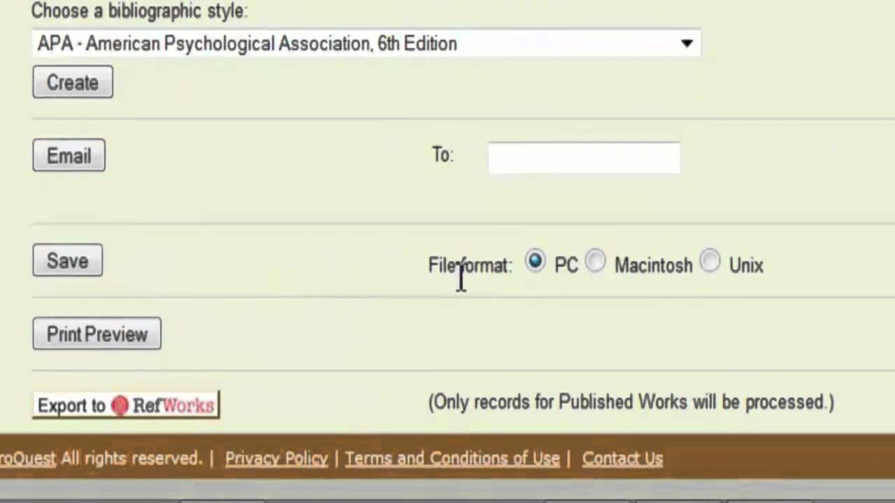 Transferring Citations From Psycinfo@ucsf To Endnote
